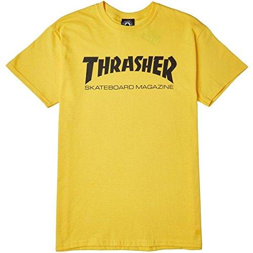THRASHER SKATE MAG TEE YELLOW TALLA: M