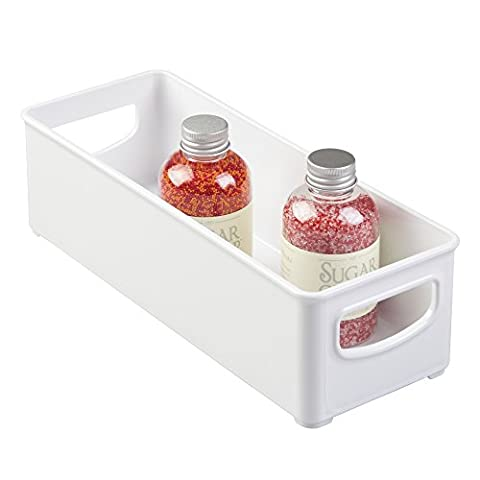 mDesign Practical Refrigerator Organiser - Storage Tray for the Kitchen - Ideal Storage Box with Handles -