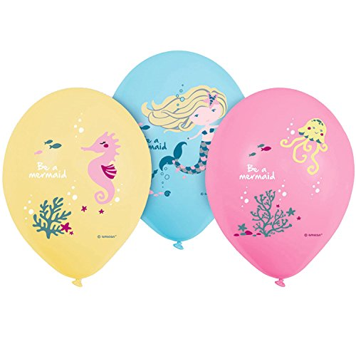 amscan 9903039 Be a Mermaid Luftballons Set, Mehrfarbig