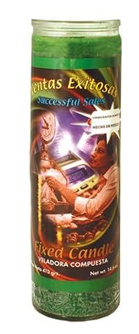 MAGIE/MYSTIK/KOMPLETTES RITUAL: Magische Kerze aus Glas SUCCESSFUL SALES (Erfolgreiche Verkäufe) mit Anleitung und Zeitpunktangaben