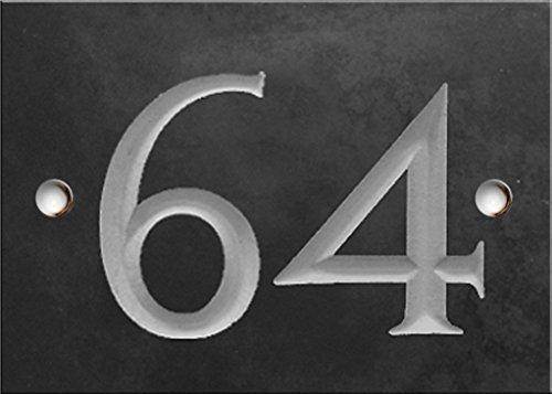 Schiefer Zahlen - 61 bis 80 (wählen Sie hier Ihre Nummer) - nummer 64 (Zahlen Link)