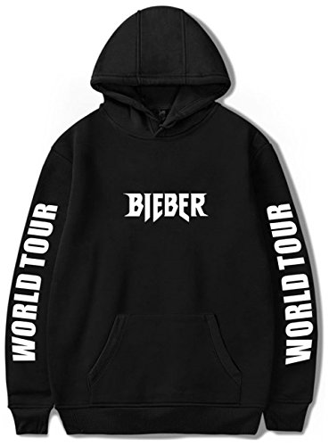ver Justin Bieber Kapuzenpullover Purpose Tour Bieber World Tour Sweatschirt schwarz M ()