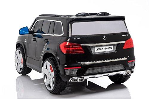 RC Auto kaufen Kinderauto Bild 4: Mercedes Benz GL63 AMG Jeep SUV Lizenz Kinderfahrzeug mit 2x 35W Motor Kinderauto Elektroauto Fernbedienung MP3 Anschluss in Schwarz*