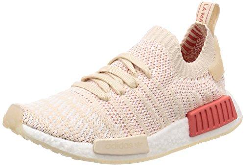 adidas Damen NMD_R1 STLT Primeknit Sneaker Beige (Linen/Crystal/0) 40 EU
