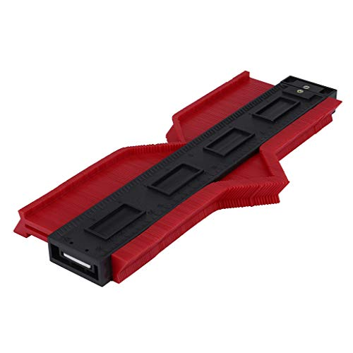 ABS Contour Gauge Mit Magnet und Bleistift, Duplizierungen 5 Zoll und 10 Zoll Profil Kopieren Werkzeug Messung für Ecken Konturenlehre Profillehre Profilkontur Messgerät Profil