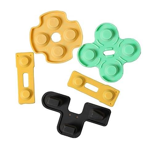 Timorn Kit de boutons en caoutchouc conducteur de réparation pour PS2 Playstation 2 Controladores (20 ensembles)