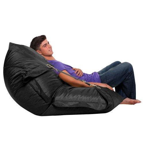 Bazaar Bag Großer Sitzsack mit Gurten, Schwarz (für Innen- und Außenbereich) - 3