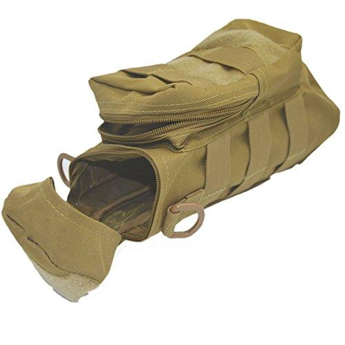 Im Freien Sport Tactical Gear Nylon Molle Zipper Camo große Flasche Wasser Tasche Wasserkocher Pack w / Dienstprogramm Medic kleine Durcheinander Pouch Khaki