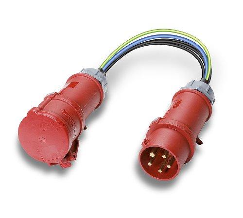 Benning CEE-CEE 32A 32A CEE-Kupplung auf CEE-Stecker, Passend für (Details) Leckstromzange CM 9 044