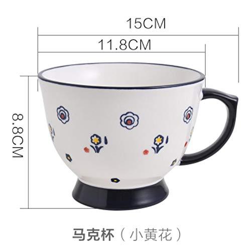 LOYWT Home Kreative Handgemalte Große Keramik Geschirr, Frühstückszerealien, Milchliebhaber Kaffee Mark Cup, A