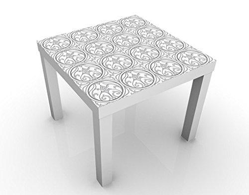Apalis 51540-301063-855817 Design Tisch Kreis Ornament, 55 x 55 x 45 cm, weiß