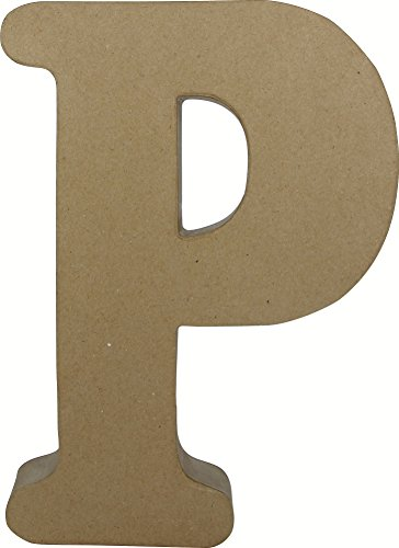 decopatch-papel-mach-diseo-de-letra-p-marrn