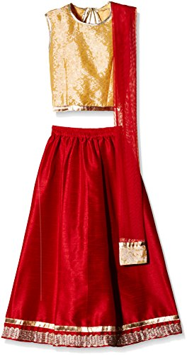 Atayant Girl Lehenga Choli (ATAYK_024_4:5YR_Gold:Red_L)