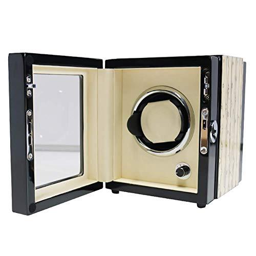Single Uhrenbeweger, tragbare automatische Uhrenbeweger Organizer Storage Vitrine Box Geeignet für Damen und Herren Handgelenk, weiche Uhr Kissen (Antike Taschenuhr-vitrine)