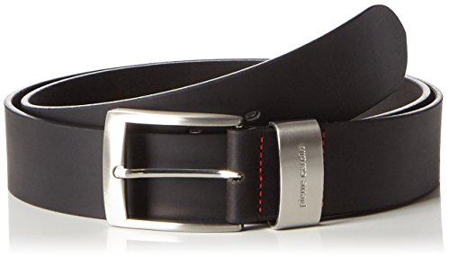 Mens leather belt / Mens belt Pierre Cardin, XXL, black, 70007, Size:110