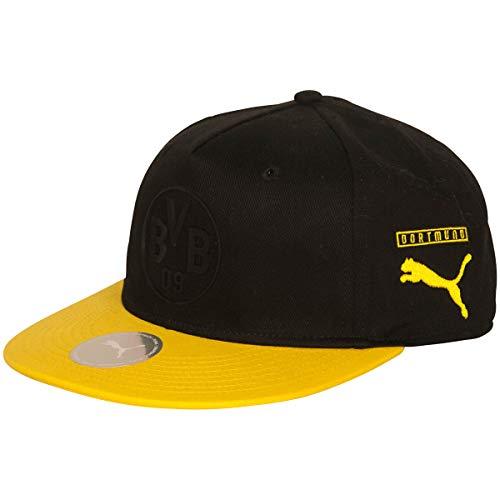 PUMA BVB Flatbrim Fan Cap Schirmmütze, Black-Cyber Yellow, OSFA