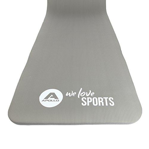 Apollo Fitnessmatte 180 x 60 x 1,5 cm - Samudra, gelenkschonend und rutschfest - Dicke Gymnastikmatte mit Tragegurt für Sport, Gymnastik, Yoga und Pilates