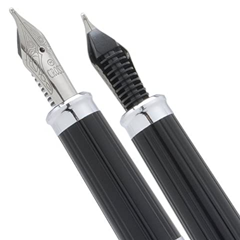 Cross Century II Sterling Silver/Translucent Black Lacquer Medium nib Fountain Pen by CROSS