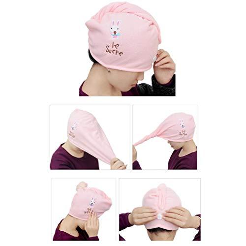 TAOtTAO Microfiber Hair Turban Quickly Dry Hair Hat Wrapped Towel Bathing Cap