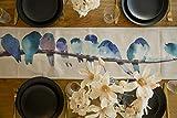Fondream Tischläufer mit Vögel Bedruckt, 30x160cm, ausgefallene Tischwäsche für drinnen und draußen, für Weihnachten, Partys, Geburtstage und jeden Anlass