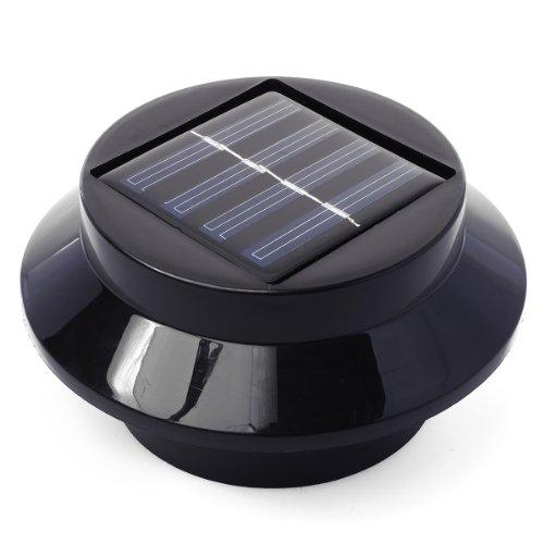XCELLENT Global 3LED Solar Energy Saving Zaun Gutter Licht Outdoor Garden Wall Lobby Weg Lampe (schwarz, weiß optional) - Portable Solar Power Packs