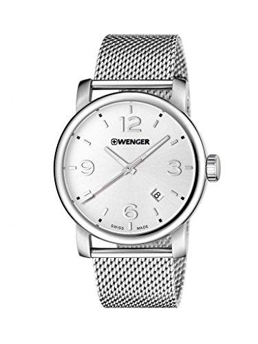 WENGER Herren-Armbanduhr WENGER URBAN METROPOLITAN 01.1041.126 Analog Quarz Edelstahl WENGER URBAN METROPOLITAN 01.1041.126