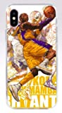 Art Design Hülle für iPhone XR Kobe Bryant Mamba Lakers 24 Basketball NBA weiß Soft Silikon