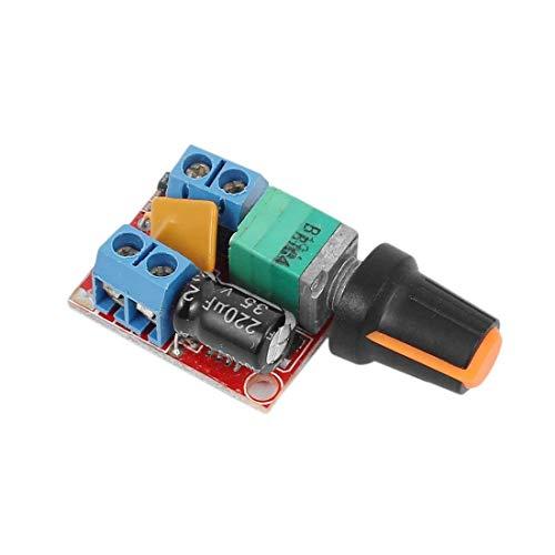 WINGONEER DC-Motordrehzahlregler-Platine 3V-35V 5A PWM-Regler Stufenloser DC 3V 6V 12V 24V 35V Variabler Spannungsregler Dimmer-Regler Schalten Aufbau mit LED-Anzeige und Schalterfunktion