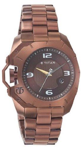 41dkmPltyXL - Titan 1605QM01 Purple Brown Mens watch