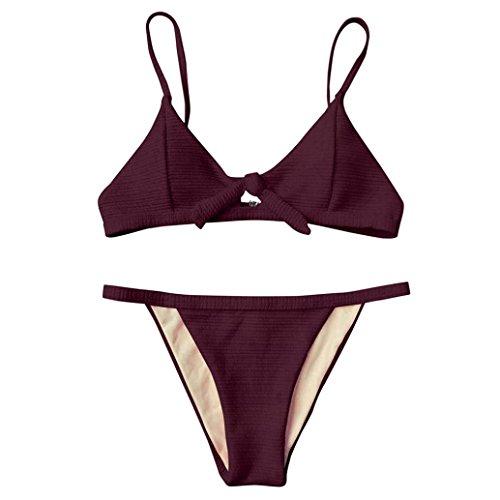 Fluoreszenz Bademode Oberteil Tops und Bottoms SetSwimsuit bandage Tankini Beachwer High Waist Hohe Taille Shorts