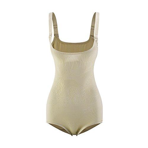 Amazingjoys Damen Shapewear Body Shaping Bodysuit Miederslip Taillenformer Figurformender Getrennte Unterhose auf (Korsett Kostüm Bodysuit)