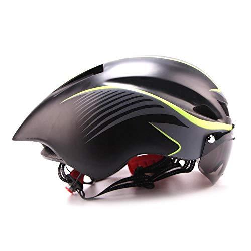LIUDATOU Fahrradhelm Road Tt Bull Trial Triathlon Xc Fahrrad Fast Aero Racing Helm Magnetische Schutzbrille Visier, Farbe 2