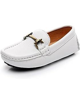 [Patrocinado]Shenn Niños Chicos Ponerse Aldaba Diseño Calidad Superior Vestir Cuero Mocasines Zapatos