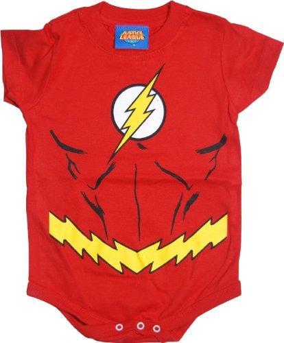 Tv Store The Flash Uniform Kostüm rot Kleinkind Onesie Baby Strampler (24 Monate)