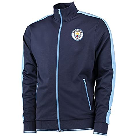 Manchester City Mens Gents Football Classic Tricot Track Jacket Top