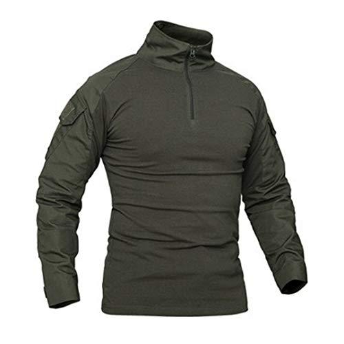 Outdoor Sport T-Shirts Militärisches Tactical Combat Hemd Jagd Armee T-Shirt Langarm Wanderhemden Green S -
