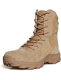1486c7948820a Suetar Scarpe da Trekking tattiche Militari da Uomo Stivali da  Combattimento Resistenti e Antiscivolo da Uomo