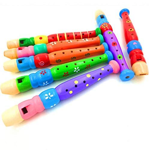 Momorain 6 Löcher Tragbare Holz Piccoloflöte Sound Musikinstrument Früherziehung Spielzeug Geschenk für Baby Kind Kinder