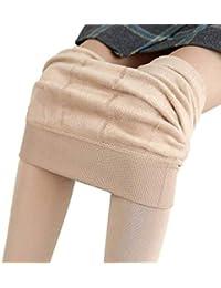 HaiDean Pantalons Dames Femmes Automne Doublure Chaud Hiver Polaire  Pantalon Extensible Chic Jeune Épaissi Thermo Leggings 1b34b818a68a