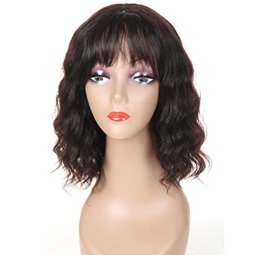Morichy - Extensions de cheveux humains brésiliens 100 % vierges pour femme noire densité 130%, 3 trames noires