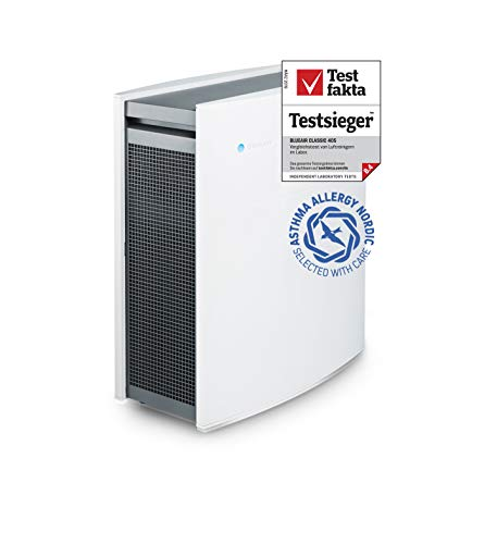 Blueair Classic 405 Luftreiniger mit Partikelfilter, echte HEPA-Leistung durch HEPASilent-Filtration für Allergene, Staub, Schimmelpilzbefall, Asthma und COPD-Entlastung, kleine Räume, leiser Betrieb -