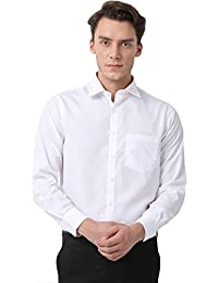 Pan America Men's Formal White Shirt