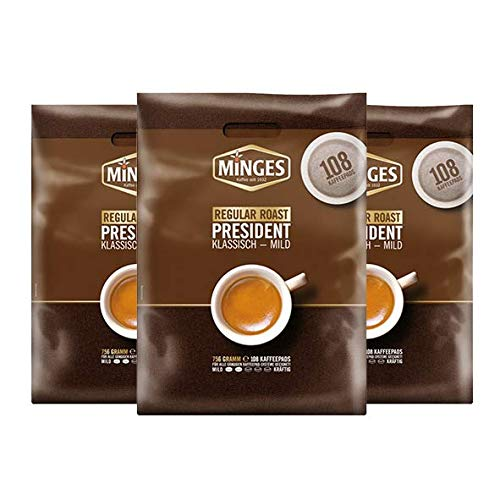 Minges Regular Roast Megabeutel, 108 Pads 3er Pack