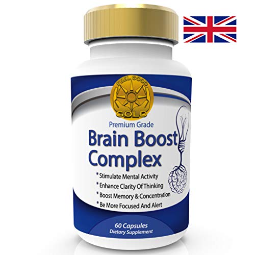 Brain Boost Nootropics Max Strength Complex for Memory Focus Concentration,  Cognitive Function Enhancement and Neuro Nutrition  No Risk Money Back