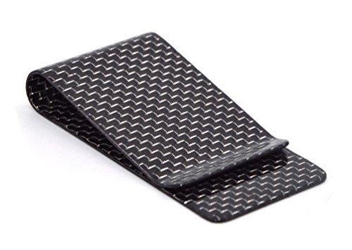 Carbon Faser Geld Klipp Kreditkarte Visitenkarte Bargeld Halter Geldscheinklammer L Silber