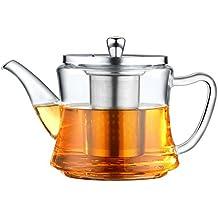 Tetera de vidrio de varios usos, aplicable para hacer té, hervir té, usada
