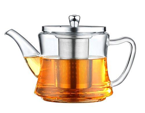 Théière multifonctionnelle en verre thé ébullition 1200 ml