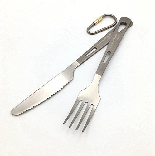 Titanium Cutlery Spork Spoon Outdoor Camping Dinnerware