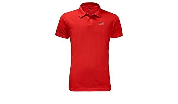 Jack Wolfskin Pique Polo Men Größe: M Farbe: fiery red