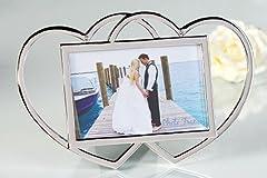 Idea Regalo - Casablanca Fotorahmen Love Memories aus Metall verchromt Fotoformat 10 x 15 cm Höhe 16 cm 40725